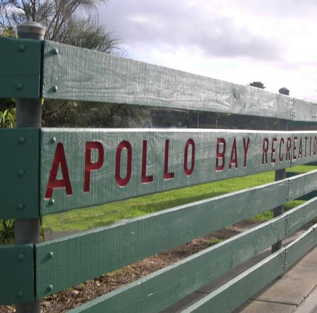 Apollo Bay Reserve welcome sign