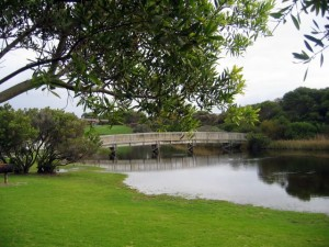 The park is situated beside a lovely river